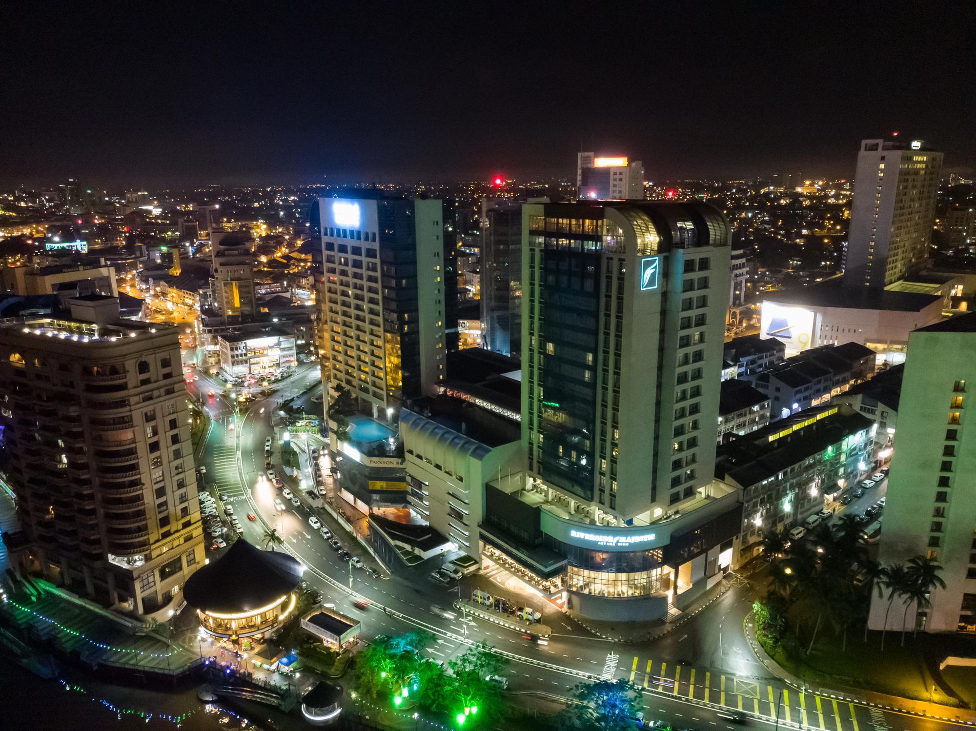 Kuching CIty aerial view